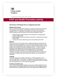 PrEP and Health Promotion activity