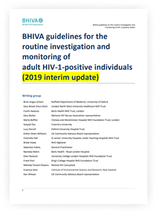 BHIVA guidelines for the routine investigation and monitoring of adult HIV-1-positive individuals (2019 interim update)