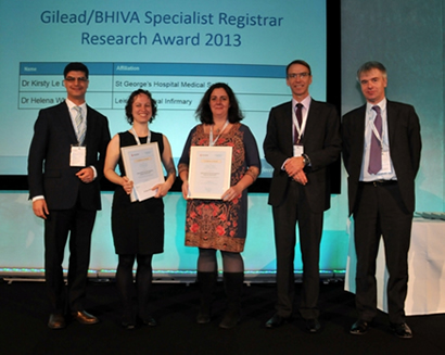 Gilead / BHIVA Specialist Registrar Research Award