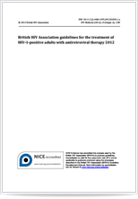 BHIVA guidelines for the treatment of HIV-1 positive adults with antiretroviral therapy 2012