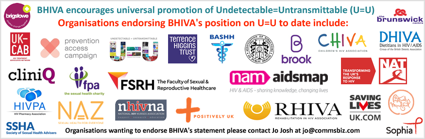 BHIVA encourages universal promotion of U=U
